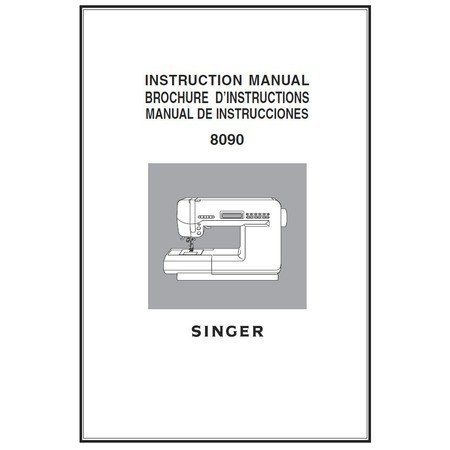 Instruction Manual, Singer 8090