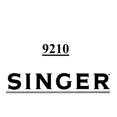 Instruction Manual, Singer 9210