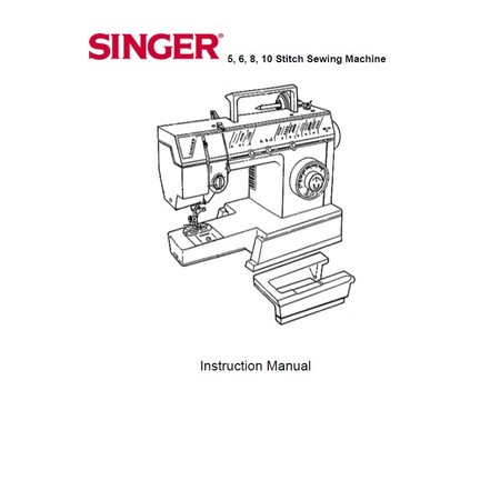 Instruction Manual, Singer 9805