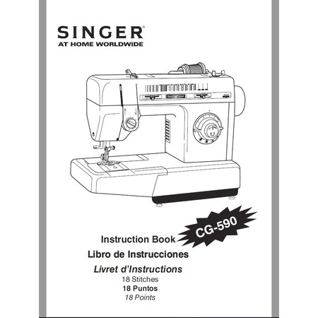 Instruction Manual, Singer CG-590