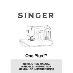 Instruction Manual, Singer One Plus