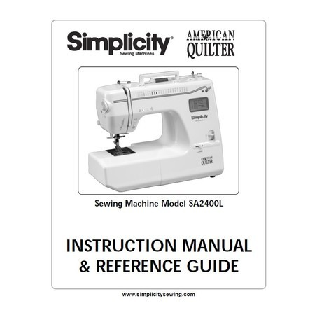 Instruction Manual Simplicity SA40L Sewing Parts Online Simple Sewing Machine Manuals Online