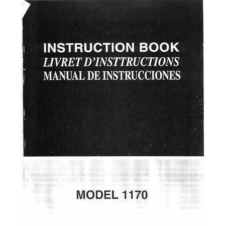 Instruction Manual, Simplicity SL1170