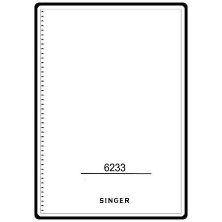 Instruction Manual, Singer 6233