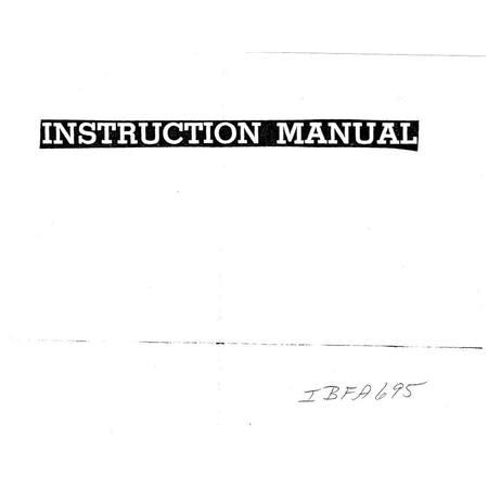 Instruction Manual, Simplicity FA695