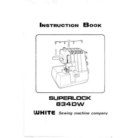 Instruction Manual, White 834DW