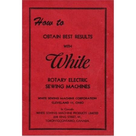 Instruction Manual, White Rotary