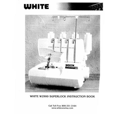 Instruction Manual, White W2900