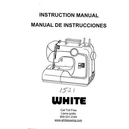 Instruction Manual, White 1521