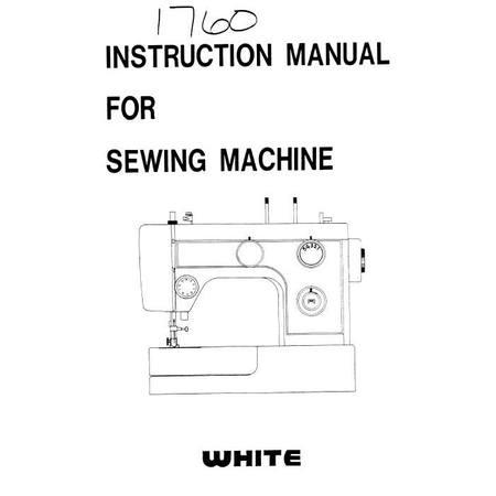 Instruction Manual, White 1760