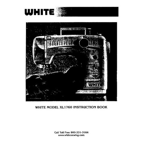 Instruction Manual, White 1760XL