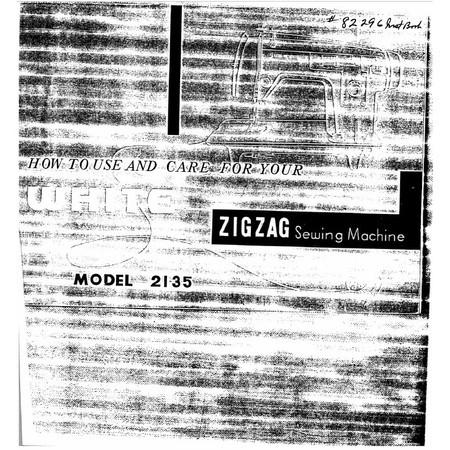 Instruction Manual, White 2135