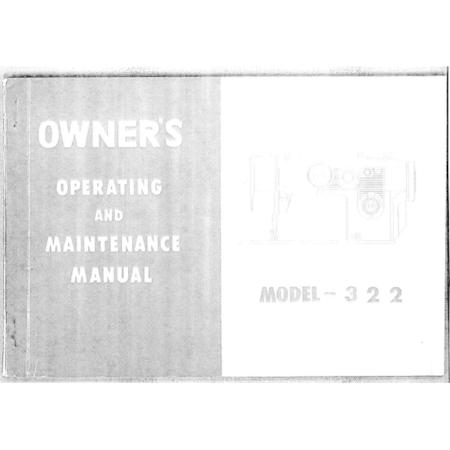 Instruction Manual, White 322