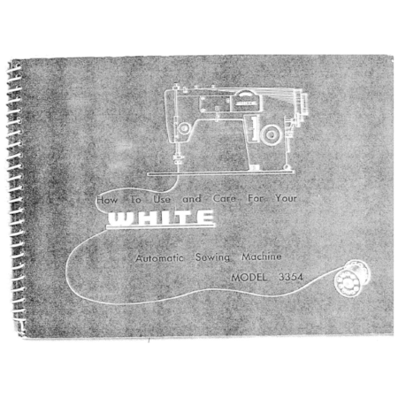 Instruction Manual, White 3354
