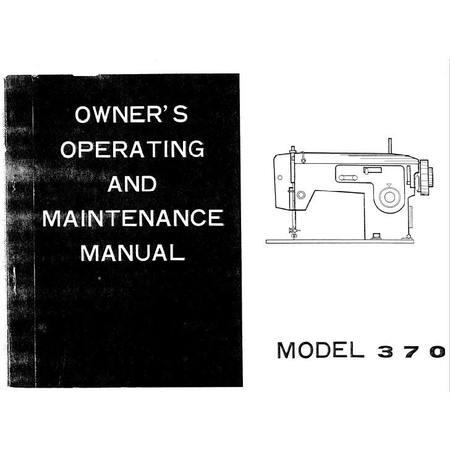 Instruction Manual, White 370