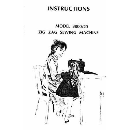 Instruction Manual, White 3800