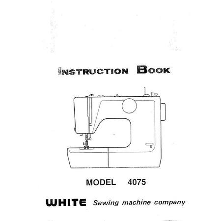 Instruction Manual, White 4075