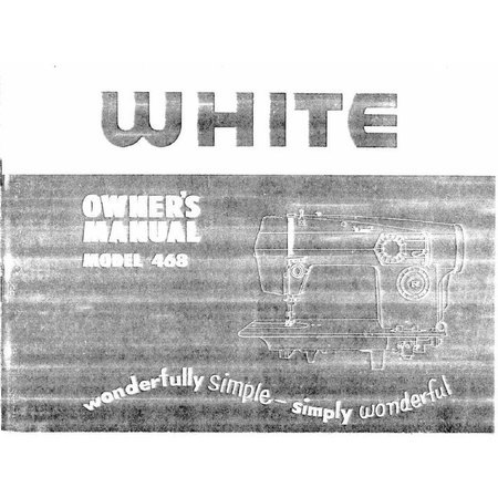 Instruction Manual, White 468