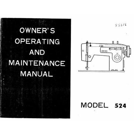 Instruction Manual, White 524