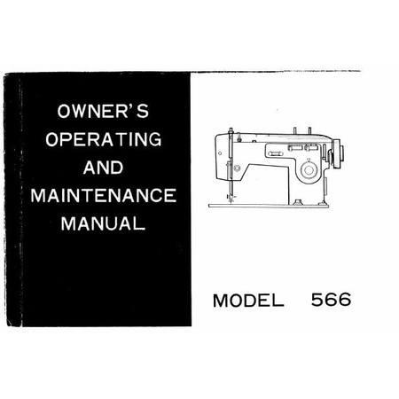 Instruction Manual, White 566