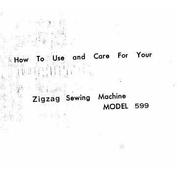 Instruction Manual, White 599