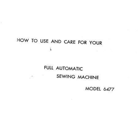 Instruction Manual, White 6477