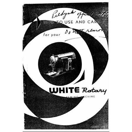 Instruction Manual, White 659