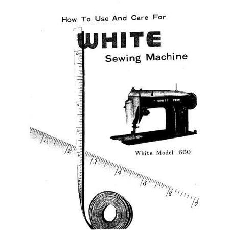 Instruction Manual, White 660