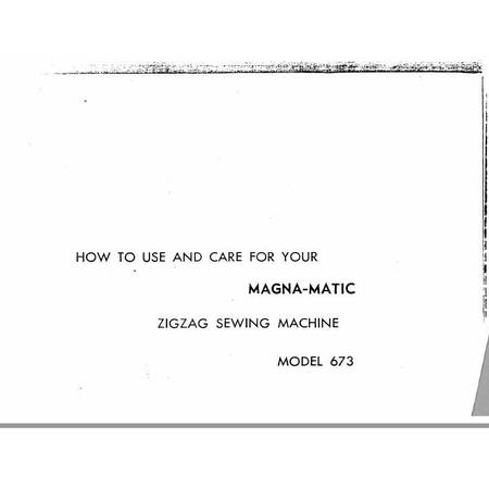 Instruction Manual, White 673