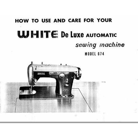 Instruction Manual, White 674