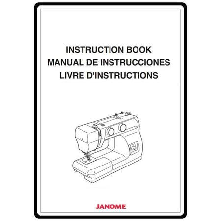 Instruction Manual, Janome 2212