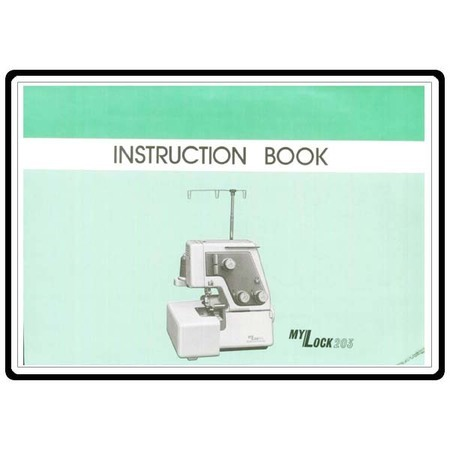 Instruction Manual, Janome 203