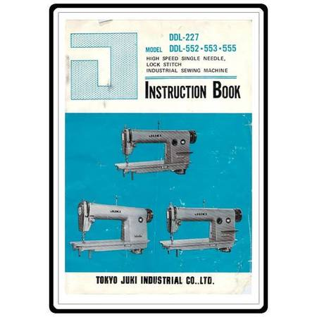 Instruction Manual, Juki DDL-553