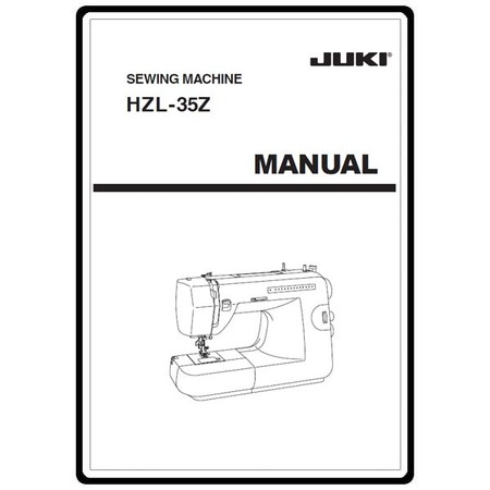 Instruction Manual, Juki HZL-35Z