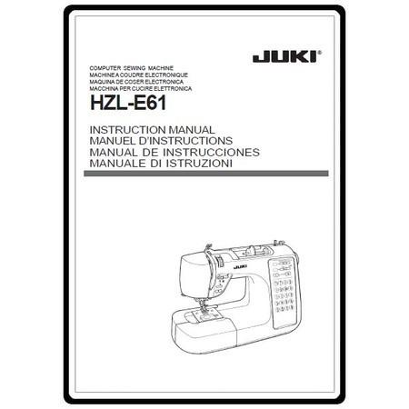 Instruction Manual, Juki HZL-E61