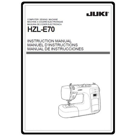 Instruction Manual, Juki HZL-E70