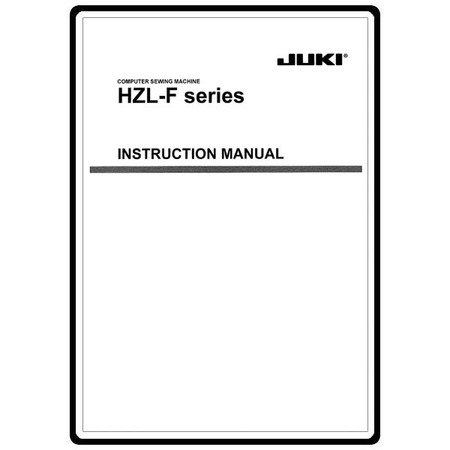 Instruction Manual, Juki HZL-F400
