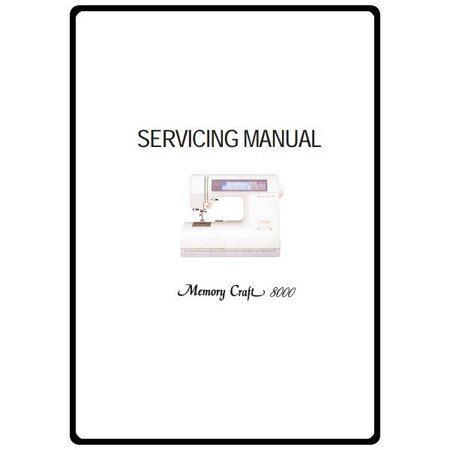 Service Manual, Janome MC8000