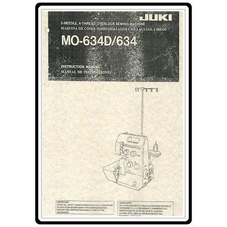 Instruction Manual, Juki MO-634D