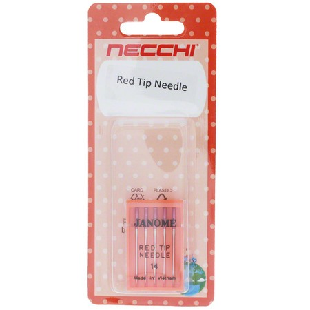 Red Tip Needle 15x1 (5pk), Necchi #NE990314000