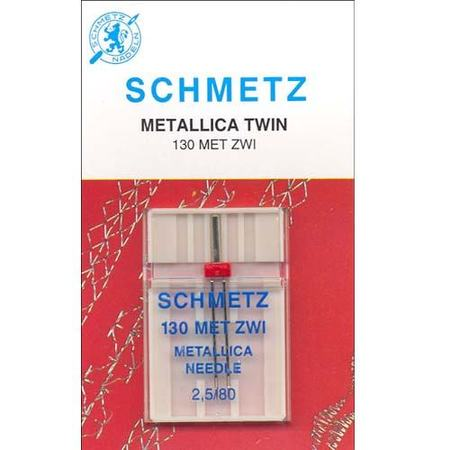 Metallic Twin Needle, Schmetz (1pk)