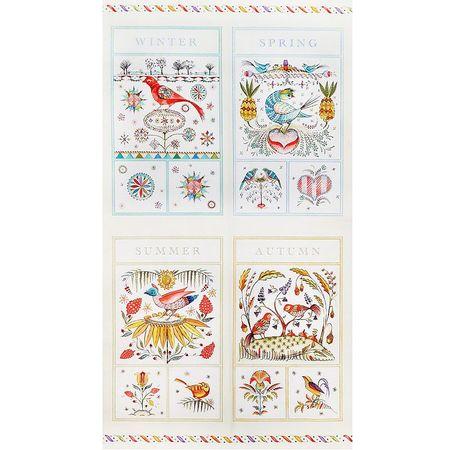 Frakturs & Flourishes, Four Seasons Fabric Panel