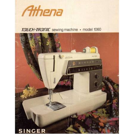 Instruction Manual, Singer 1060 Athena