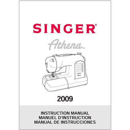 Instruction Manual, Singer 2009 Athena