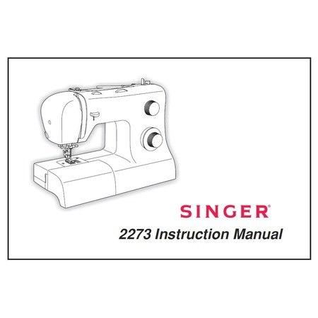 Instruction Manual, Singer 2273