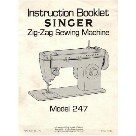instruction manual singer 247 sewing parts online rh sewingpartsonline com 15 91 Singer Instruction Manual Singer Merritt 2404 Instruction Manual