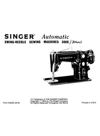 Instruction Manual, Singer 306W