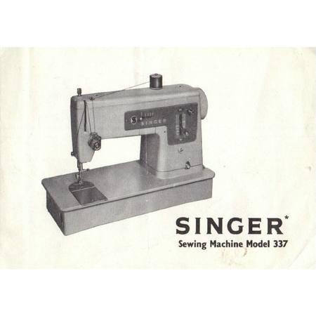 Instruction Manual, Singer 337