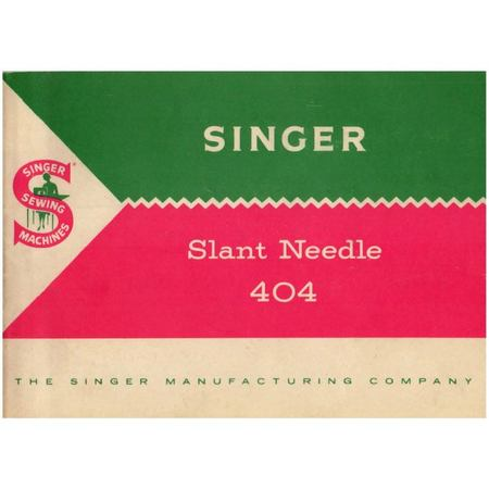 Instruction Manual, Singer 404
