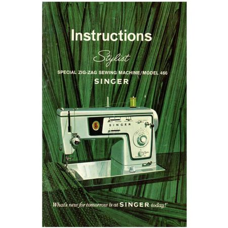 Instruction Manual, Singer 466